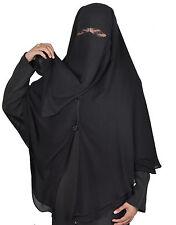 Extra lang Niqab-Khimar Kombi, Gesichtsschleier Hijab Islamische Kleidung HI0381