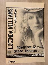 Lucinda Williams Concert Poster