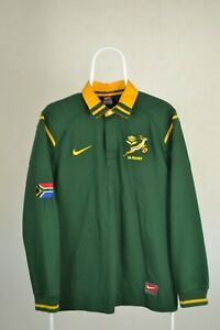 Rare South Africa 1998/1999 Home Rugby Union Shirt Vintage Nike Jersey Size M