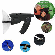 Long Range Parabolic Microphone Monocular Bionic Ear Birds Listening To 300 FT
