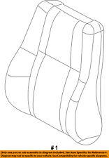 Dodge CHRYSLER OEM Durango Front Seat-Cushion Cover-Top Back Right 5YE12JRRAC