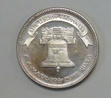{BJSTAMPS} 1985 A-MARK LIFE LIBERTY HAPPINESS 1 TROY OUNCE .999 FINE SILVER