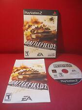 Battlefield 2: Modern Combat (Sony PlayStation 2, 2005) COMPLETE Black label