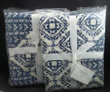Pottery Barn Paulina Paisley Diamond Sham Standard Twilight Blue S/ 2 #725