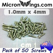 50 x Screws Self Tapping 1.0mm x 4mm Pan Head (304 Stainless Steel)