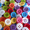 20/50/200pcs mixed round plastic sewing buttons lots 11mm 4 holes (U pick color)