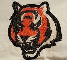 White Reebok NFL Cincinnati Bengals Baby Doll Sequin Logo T Shirt Women's L