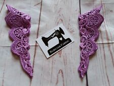 PURPLE Lace Sleeve Trims, Flutter Sleeve, Lace Trim, FREE POST from Sydney