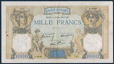 FRANCE - 1000 FRS CÉRÈS & MERCURE Fay n° 38.48 du 30-5-1940. en TTB   A.9848 701