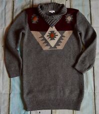 Girls Burberry Designer Clothes Knitted Jumper Wool Dress 11-13 Years Excellent!