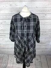 Levi Levi's Camisa de vestir-Talla XS UK8-check-Excelente Estado-Para Mujer