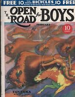 Open Road for Boys Magazine February 1933 Bloodhound Boris Karloff