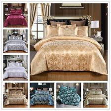 Elegant Duvet Cover Set Satin Jacquard Quilt Cover Bedding Digital Personality