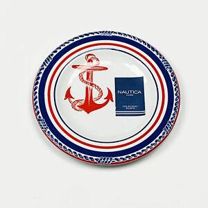 "Nautica Ocean Sea Anchors Away 9"" Melamine Salad Side Plates Set of 4"