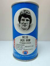 RC COLA JACK HAM #59 PITTSBURGH STEELERS FOOTBALL PULL TAB SODA POP CAN  NFL
