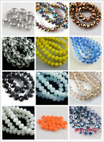 Wholesale 50pc Faceted Glass Crystal Rondelle Spacer Beads Jewelry Making 10x7mm
