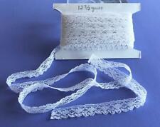"""Vintage Lace Trim 1/2"""" wide white 12 3/8 yards Piece Lot 103-a Read Description"""