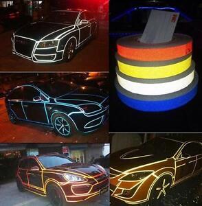 Strisce Auto adesive rifrangenti luminose 3M decorazione carrozzeria 24mt x 7mm