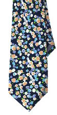 """NEW Men's Casual Necktie Summer Floral Chambray London Tie  3"""" W Multi Navy"""