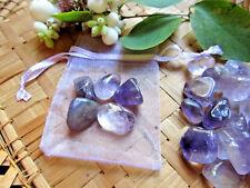 86-Petite pochette de 5 améthystes-pierres 1à2cms-Reiki-Wicca