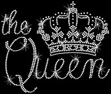 Queen Crown Royal Tiara Princess Hotfix Iron On Rhinestone Transfer
