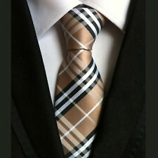 Silk 148cm Long Brown Men Tie Fashion Wedding Office Party Formal Men Necktie