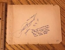 Phil Rizzuto Signed Album Page