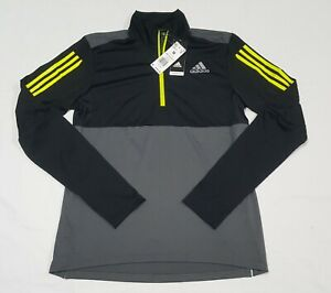 Adidas Own The Run Half Zip Long Sleeve Mens Running Top - Black GM6318