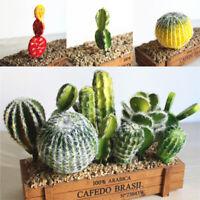 Artificial Fake Tropical Flower Green Cactus Succulents Plants Garden Decor Hot