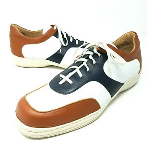 $395 Maus & Hoffman Men 10.5 11 Comfort Loafers Shoes Lace Up Soft Leather Golf