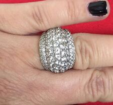 Xavier 10.8 Grams 925 Huge Cz Pave Dome Ring Sz 8