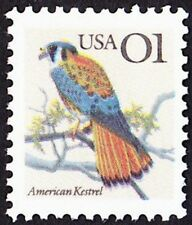 US - 1991 - 1 Cent American Kestrel Birds Flora and Fauna Series Issue #2476 NH