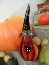 Dekofigur Deko Gartenfigur Laterne Kürbis Halloween Gruselig Lampe Teelicht rar