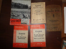 4 old manuals Case Tractors T6 No. 36 Two Row Drawn Lister Bottom Tractor Plow
