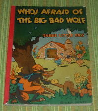 WALT DISNEY'S  WHO'S AFRAID OF THE BIG BAD WOLF  MCCAY  1933  THREE LITTLE PIGS