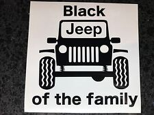 "5"" Black Jeep Of The Family Vinyl Decal Sticker COLORS Wrangler JK TJ Offroad"