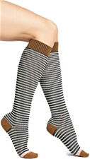 Socks Woman Striped White/Black STANCE Boot Sock Oatmeal Hearther