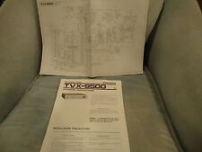 Pioneer TVX-9500 Vintage Owners Manual + Schematic