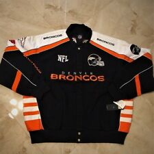 Denver Broncos Cotton Twill Jacket 3XL Navy Specialty Logos Embroidered NFL