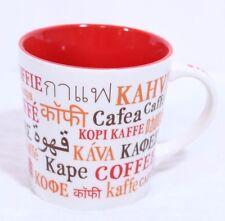 Starbucks 2008 International Languages Coffee Kaffe Kahve Koffie Kapa Mug 16oz.