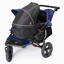 New Out n About nipper 360 double pushchair v4 Royal navy with 1 carrycot & pvc