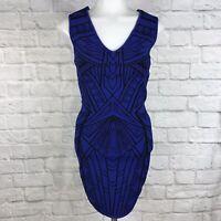 Forever 21 Small Bodycon Dress Sleeveless Blue Black
