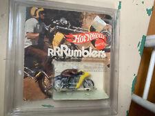 Vintage Hot Wheels Rrrumblers Yellow / Blue Rip Snorter Motorcycle 1970