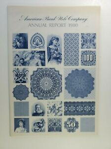 1980 American Bank Note Company Graphic Annual Report NO Reserve