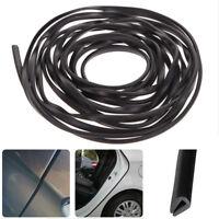 200cm Black U-Shape Rubber Strip Car Door Edge Protection Moulding Trim Cover