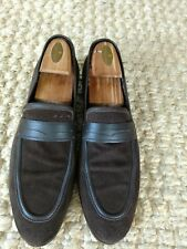 Hugo Boss Brown Suede Loafers Size 10 Made In Italy