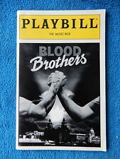 Blood Brothers - Music Box Theatre Playbill w/Ticket - December 17th, 1994