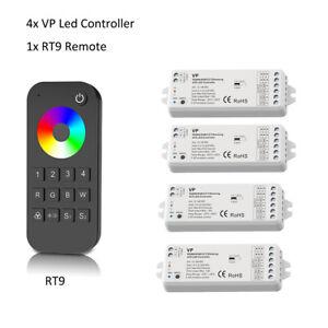 Wireless 4CH RF LED Controller 12V 24V RGB RGBW Stripe mit 4 Zonen Fernbedienung