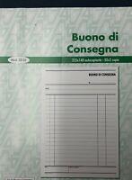 5 Blocchi Buoni di Consegna 50x2 formato 22.5x14.8 cm. 2 copie autoricalcanti