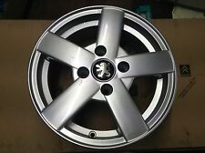 Genuine new Peugeot alloy wheel 206 9715 1R Quick silver Hurricane J14 H2